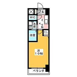 KIAORA (キオーラ)[4階]の間取り