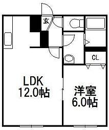 サンテラスYuzu[101号室]の間取り
