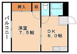 福岡県飯塚市菰田西3丁目の賃貸マンションの間取り