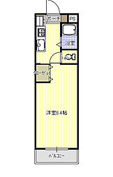 KDマンション峰[1階]の間取り