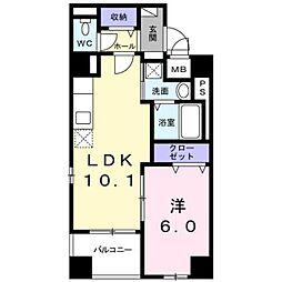 東京メトロ東西線 東陽町駅 徒歩13分の賃貸マンション 1階1LDKの間取り