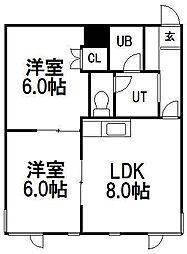 山の手セントラルマンション[205号室]の間取り