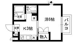福来西宮北口[2階]の間取り