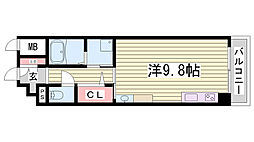 Rassure Kobe[101号室]の間取り