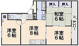 サンドミ−ル西口[2階]の間取り