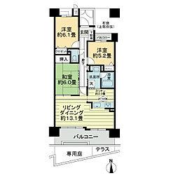 ライオンズマンションニューシティー日進の丘 弐番館[1階]の間取り