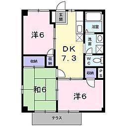コーポ畠田[1階]の間取り