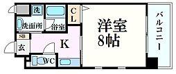 Axis Court松尾 9階1Kの間取り