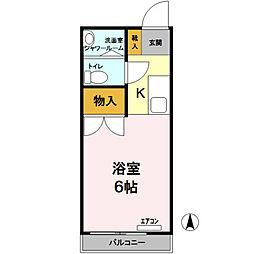 東京都国立市西3丁目の賃貸アパートの間取り