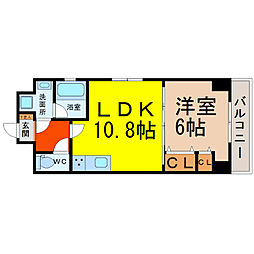 LUNA KASATORI(ルナ笠取)[2階]の間取り
