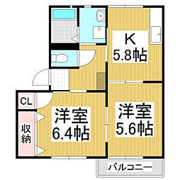 フォーレスSEKI[1階]の間取り