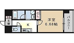 W.O.B西九条[4階]の間取り