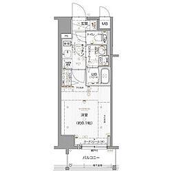 エスリード名古屋東別院 10階1Kの間取り