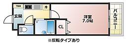 コレクション佐堂[203号室]の間取り