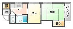 シャトーMIYUKI[3階]の間取り