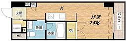 アーデンタワー南堀江[6階]の間取り