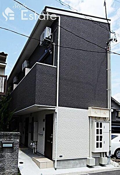 愛知県名古屋市港区名港1丁目の賃貸アパートの外観