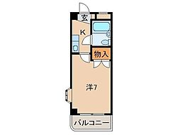 アビレス中松江[4階]の間取り
