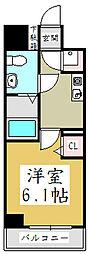 Fフラット並木[6階]の間取り