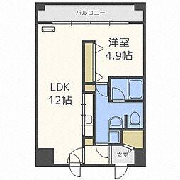 カマール6−6[605号室]の間取り