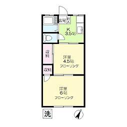 あさぎり荘[1階]の間取り