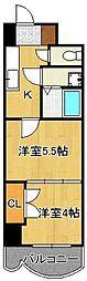 ロイヤルマジェスティ 11階2Kの間取り