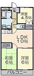 ドミール上野[403号室]の間取り