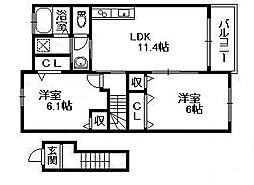 オリーブII[2階]の間取り