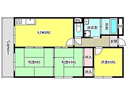 兵庫県神戸市垂水区福田5丁目の賃貸マンションの間取り
