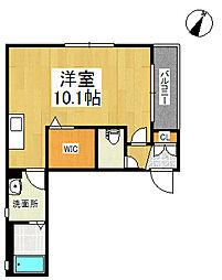 BEREO矢野[2階]の間取り