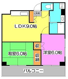シンシアハイツ神山[4階]の間取り