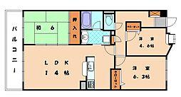 福岡県福岡市東区名島3丁目の賃貸マンションの間取り