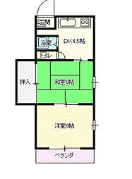赤井マンション高柳[3A号室]の間取り