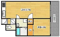ニュー北加賀屋マンション[2階]の間取り