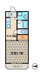 サニーサイド[3階]の間取り