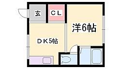 東峰コーポ[2階]の間取り