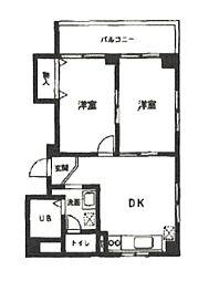 神奈川県横浜市都筑区中川中央1丁目の賃貸マンションの間取り