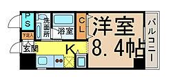 愛知県名古屋市港区入船2丁目の賃貸マンションの間取り