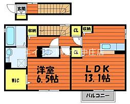 ロジュマン-S 2階1LDKの間取り