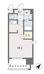 ALFACIO DIFOND 14階ワンルームの間取り