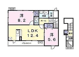 フリーデンハオス 参番館[2階]の間取り