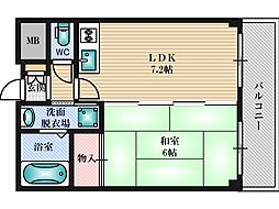 第6浦濱ビレッジ[4階]の間取り