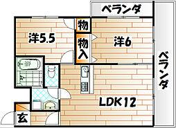 第2白石ビル[5階]の間取り