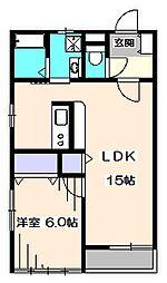 東京都西東京市保谷町5丁目の賃貸マンションの間取り