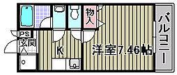 ディア コート高松[206号室]の間取り