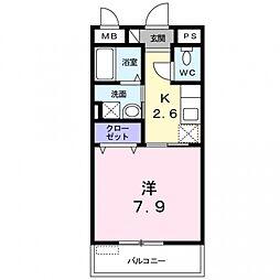 メーヴェ 26[103号室号室]の間取り