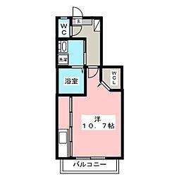 フェリスコート[1階]の間取り