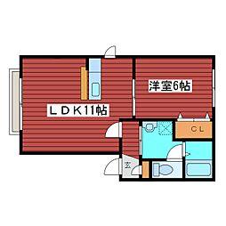 シャーメゾンASAHI[1階]の間取り