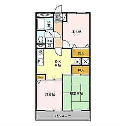 M.Sマンション[3階]の間取り
