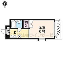 山王ハウス[401号室]の間取り